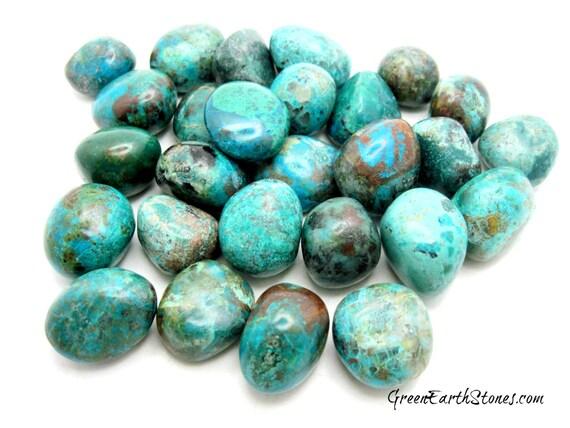 Chrysocolla Tumbled Stone, Premium, Crystal Healing, Rock Hound, Reiki, Peace