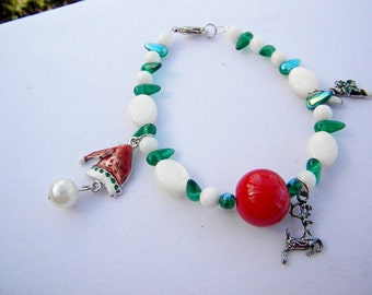 Rudolph Red Nose charm bracelet