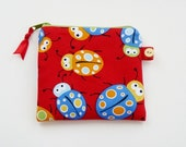 HALF PRICE SALE Ladybugs  Coin  Purse