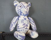 Vintage Pendleton Blanket Teddy Bear