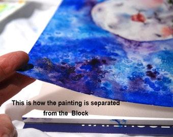 Watercolor Journal 7 x 10 140 lb Professional  grade Watercolor Paper light texture Travel Journal Art Supplies