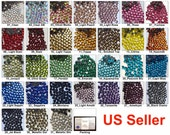1440 pcs DMC Iron On Hotfix Hot Fix Crystal Rhinestone FREE US Shipping SS10 3mm Clear Green Pink Blue Yellow Red Purple LR885