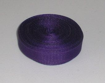 Purple 3/8 inch Solid Grosgrain Ribbon 10 yards