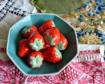 Vintage Decorative Ceramic Strawberries - 9