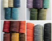 Two Ply Waxed Irish Linen, PICK YOUR MIX, Waxed Irish Linen, 2 Ply Waxed Irish Linen, Linen Cord, Linen Thread, Irish Linen, Waxed Cord