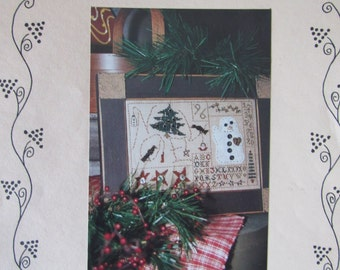 Patches of Christmas IV/Counted Cross Stitch Sampler Pattern by Homespun Elegance/Holiday Needlecraft/Needlework/Home Decor/Decoration
