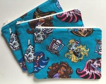 Zipper Bag  Essential Oil Bag  Make Up Bag - Monster High