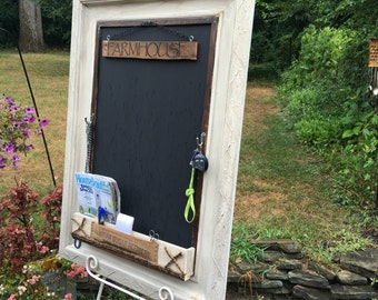 Farmhouse Chalkboard/Wall Organizer