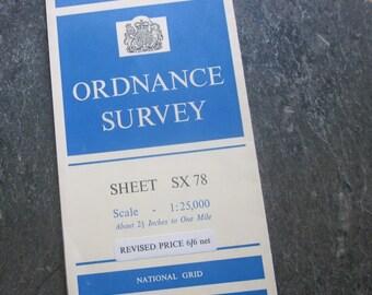 1964 Vintage Ordnance Survey Map of Moretonhampstead