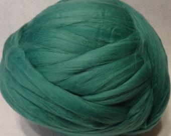 Wool Roving, Merino Wool Roving, Merino Wool, Spinning Wool, Felting Wool, Green Wool Roving - Myrtle Merino Wool Roving - 8 oz