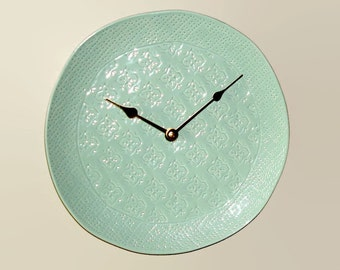 10 1 2 Inch Seafoam Green Wall Clock Silent Wall Clock French