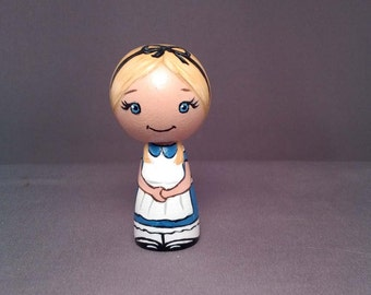 Alice Kokeshi Peg Wooden Doll