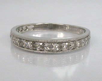 Cool Vintage Diamond Anniversary Band - Wedding Band - 0.42 Carats - Appraisal Included