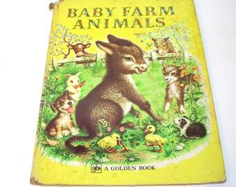 Baby Farm Animals, Vintage Golden Book