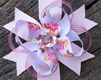 Light Pink Princess Stacked Boutique Hair Bow