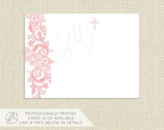 The Avery Lace Baptism Invitation Christening Invitation