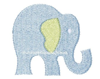 359 Mini Elephant Machine Embroidery Design