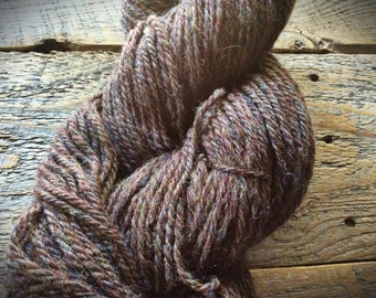 Handspun yarn - Aran - heavy worsted weight  - handmade - luxury wool - crocheting - knitting - gift for knitters - yarn shop - brown wool