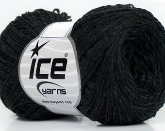 Knitting  yarn, Destash yarn, Anthracite Black, light fingering, lace weight, Y220