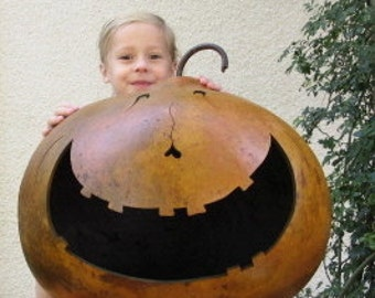 Halloween Gourd XXX Jumbo Jack O Lantern Primitive Pumpkin Decoration
