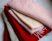 SALE--Cashmere Sweater Fabrics, Lovely Colors, Larger Pieces, Great for Crafting