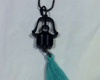 Clairely upcycled jewellery - Necklace - Fatima with tassel