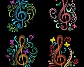 MUSIC TIME -30 Machine Embroidery Design Instant Download 4x4 5x7 6x10 Full Pack (AzEB)