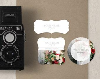 Sticker Templates for Photographers - Label Designs -  Premade Digital Photoshop Files - m0216