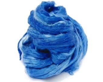 Mulberry Bombyx Silk Sliver Navy Blue - 30 grams