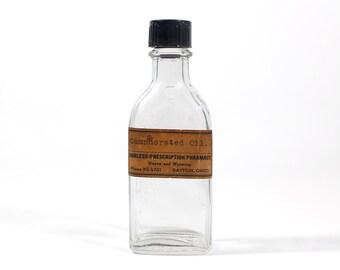 Vintage Camphorated Oil Prescription Pharmacy Bottle