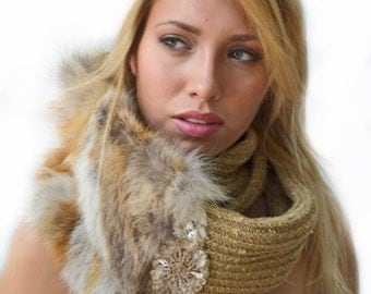Camel Infinity Scarf  with a Twist