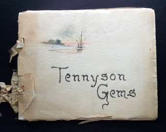 Tennyson Gems W. Goodrich Beal 1889 Samuel E Cassino Original Watercolor Cover
