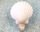 Seashell Night Light - Choose Scallop Shell, Nautilus, Sand Dollar with Starfish or Conus Shell