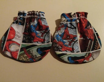Spiderman Comics Baby Mitts