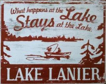 What Happens at the Lake......Lake Lanier 14x15.5