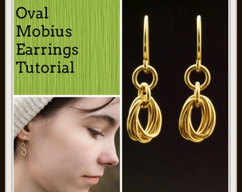 PDF Oval Mobius Earring Tutorial - Chainmaille Jewelry