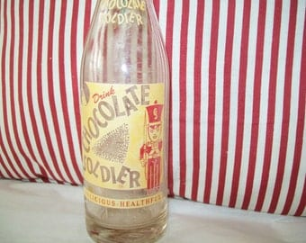 Midcentury Chocolate Soldier Soda Bottle, 1950s, 1960s