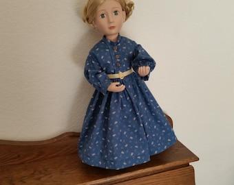 Little Women style dress for 16 inch doll