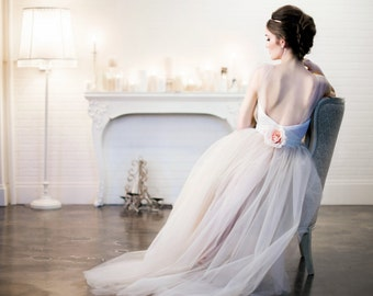The Modern Romance Wedding Dress/Gown Blush/Beige/Champagne/Ivory Tulle