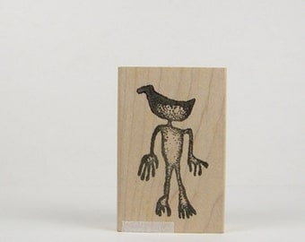 Petroglyph Stamp, Wood Mounted Rubber Stamp by Rubber Poet.