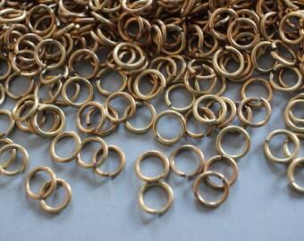 Vintage Brass Jump Rings 8mm