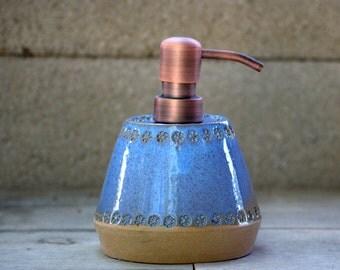 Handmade ceramic soap dispenser,Pottery Dispenser, Handmade Lotion Bottle, Soap Pump - READY TO SHIP