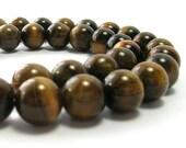Tiger Eye Bead Strand (8mm) - Gemstones