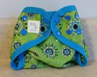 Preemie Newborn PUL Diaper Cover with Leg Gussets- 4 to 9 pounds- Starburst- 20002