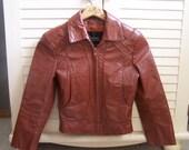 Vintage Wilson Boys/Girls/Unisex Leather Jacket Size 6