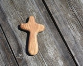 Hand Carved Holding Cross Made of Olive Wood From the Holy Land