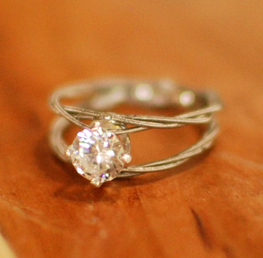 guitar string engagement ring double band purity ring. Black Bedroom Furniture Sets. Home Design Ideas