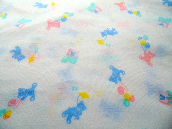 Reserved listing vintage fabric nursery childrens room for Retro nursery fabric