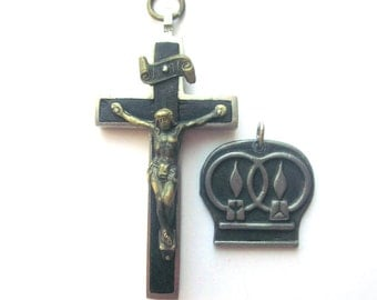 Vintage Crucifix Pendant Religious Medal Jewelry Religious Lot Cross