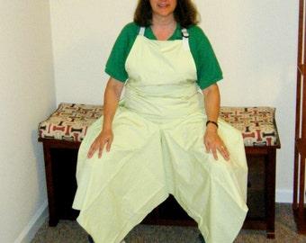 Pottery Apron Split Leg Panel Ultimate Coverage Basic Spring Green